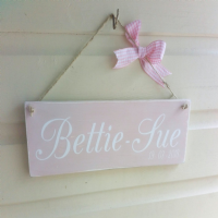 Chalk Painted Name Plaque